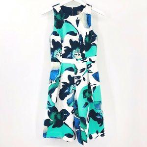 Vince Camuto Fit & Flare Floral Scuba Dress